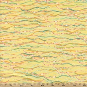 Fynn Wave Stripe Cotton Fabric - Yellow