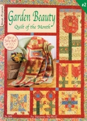 Garden Beauty Quilt of the Month by Suzanne McNeill