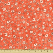 Garden Gifts Floral Cotton Fabric - Coral GGIF-624