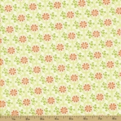 Garden of Delights Cotton Fabric - Bee Bloom Orange