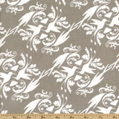 Garden of Delights Cotton Fabric - Hummingbird  - Taupe 109.101.05.1