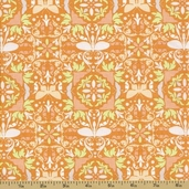 Garden of Delights Cotton Fabric - Wondrous Wings Orange