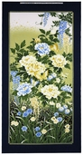 Garden of Dreams Panel Cotton Fabric - Indigo