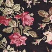 Garden of Enchantment Cotton Fabric - Black