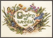 Garden of Weedin' Cross Stitch Kit