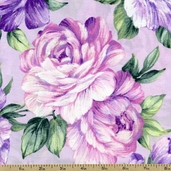 Garden Romance Cotton Fabric - Lavender J8670-70