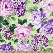 Garden Romance Small Floral Cotton Fabric - Lavender J8671-70