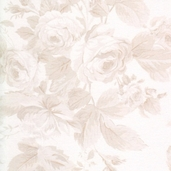 Garden Rose Cotton Fabric - Ecru