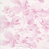 Garden Rose Cotton Fabric - Pink