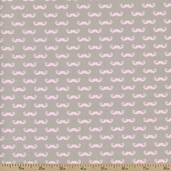 Geekly Chic Mustache Cotton Fabric - Gray