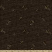 Geisha Cotton Fabric - Metallic Brown 2968M-36