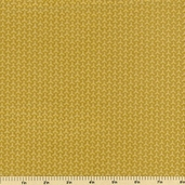 Geisha Woven Geometric Cotton Fabric Gold 2970M-34