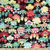 Geneva Cotton Fabric - Black J-3236-41