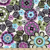 Geneva Cotton Fabric - Plum J-3235-46