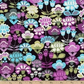 Geneva Cotton Fabric - Purple J-3236-46