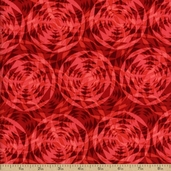 Geo Cotton Fabric - Red FLORAL-C1054