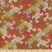 Geometriska Masoud Cotton Fabric - Brown