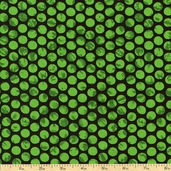 Ghouls Night Out Dots Cotton Fabric - Green