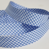 Gingham Bias Tape - Blue - 27 1/2yds