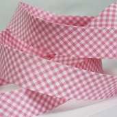 Gingham Bias Tape - Pink - 27 1/2yds