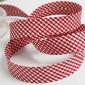 Gingham Bias Tape - Red - 27 1/2yds