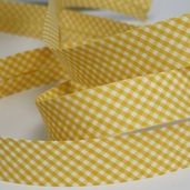 Gingham Bias Tape - Yellow - 27 1/2yds