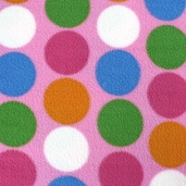 Girl's Fleece Polyester Fabric - Fun Spots - Pink
