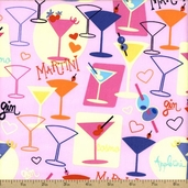 Girl's Night Out Cotton Fabric - Guavana J3221-497