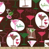 Girl's Night Out Cotton Fabric - Strawberry J3221-175
