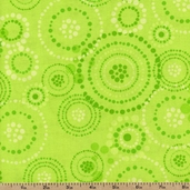 Girl Scouts Circles Cotton Fabric - Lime