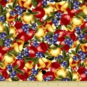 Giselle Cotton Fabric - Fruit Toss - White