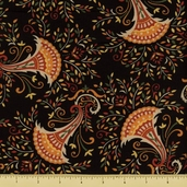 Give Thanks Cotton Fabric - Floral Cornucopia - Harvest Black
