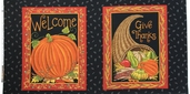 Give Thanks Cotton Fabric Panel