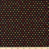 Give Thanks Dots Cotton Fabric - Harvest Black 19564-11