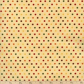 Give Thanks Dots Cotton Fabric - Vanilla 19564-18