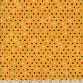 Give Thanks Dots Cotton Fabric - Yellow Wheat 19564-17