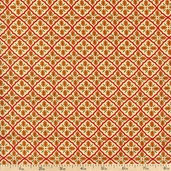 Give Thanks Grid Cotton Fabric - Vanilla 19566-18