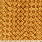 Give Thanks Grid Cotton Fabric - Yellow Wheat 19566-17