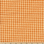 Give Thanks Houndstooth Cotton Fabric - Vanilla and Pumpkin 19568-16