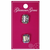 Glamour Gems - Crystal 5/8 in. Rectangular - Iridescent