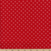 Glamping Dots Cotton Fabric - Red 11604-17