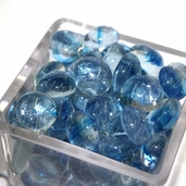 Glass Cat Eye Gems - Blue