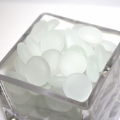 Glass Frosted Gems - White