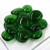 Glass Jumbo Gems - Forest Green