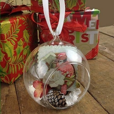 Glass Ornament with Opening