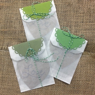 Glassine Vellum Favors