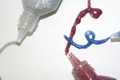 Glitter Fabric Paint - Red / Blue / Silver - Clearance