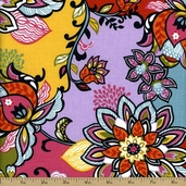 Global Bazaar Cotton Fabric - Multi-Color 114-102-01-1