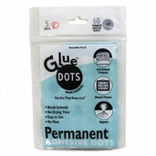 Glue Dots Permanent Adhesive 1/2 in 60pc