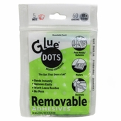 Glue Dots Removable Adhesive 1/2-Inch 60pc  - Clear